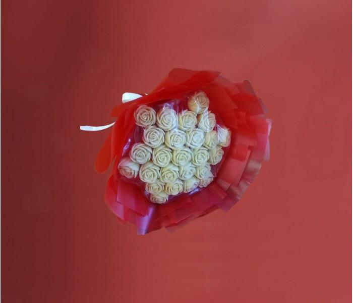 Букет из 25 шоколадных роз