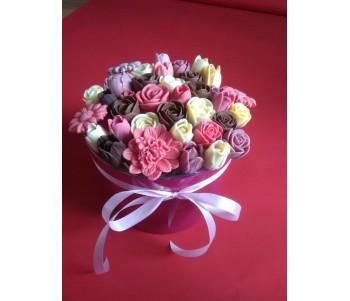 Коробка с ассорти из 35-ти цветов